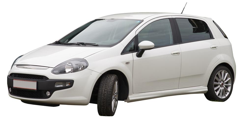 Car on white